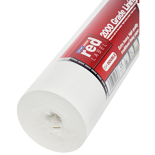 Erfurt Lining Wallpaper 2000 Grade White - 20m