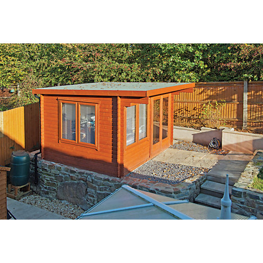 7 Clever Ideas For A Secure Remote Cabin: Shire Danbury Double Door Garden Home Office Cabin