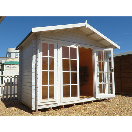 Shire Epping Double Door Log Cabin With Overhang