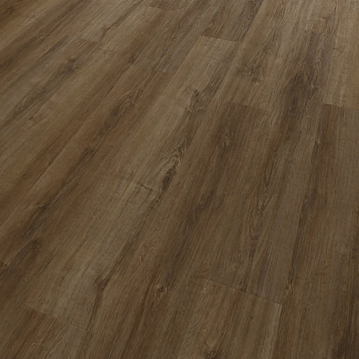 Offer Wickes Novocore Ascot Dark Oak Rigid Luxury Vinyl