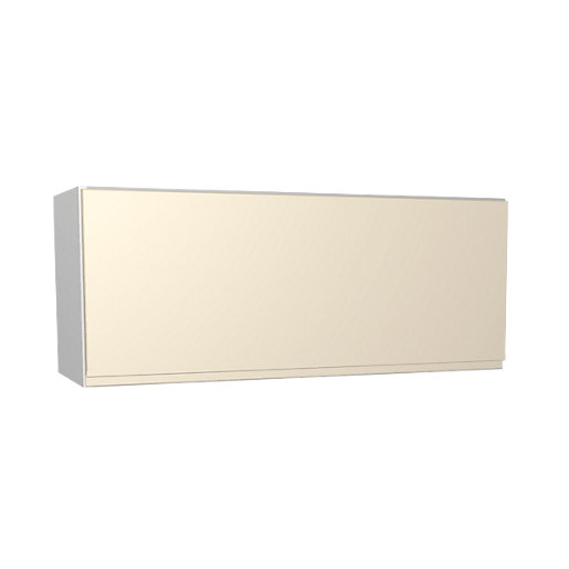 Wickes Madison Cream Gloss Handleless Narrow Wall Unit