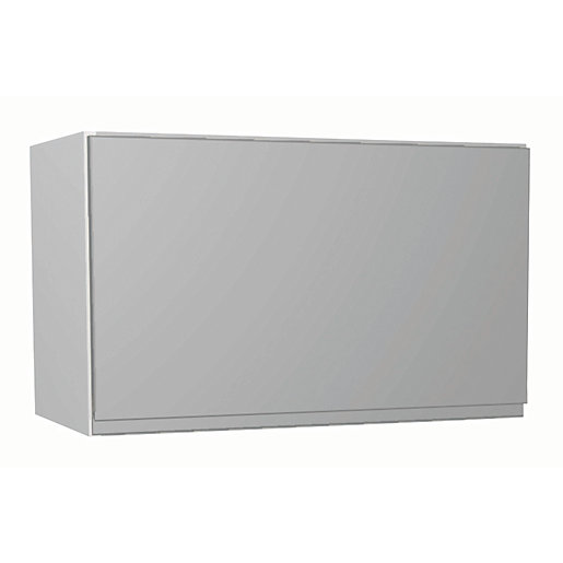Wickes Madison Grey Gloss Handleless Narrow Wall Unit