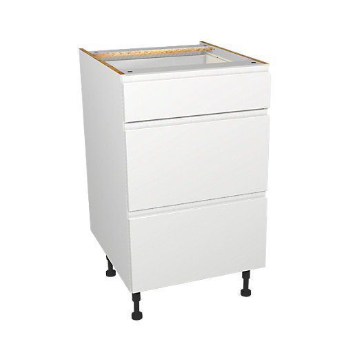 Wickes madison white drawer unit 500mm for Fitted kitchen drawer unit