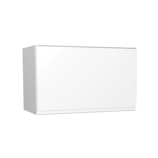 Wickes Madison White Gloss Handleless Narrow Wall Unit