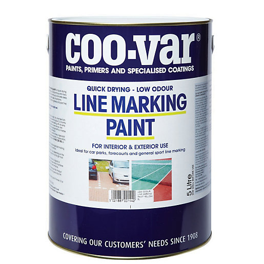 Coo Var Low Odour Line Marking Paint Yellow 5l
