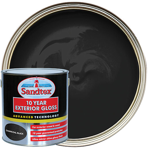 Sandtex 10 Year Exterior Gloss Paint - Charcoal