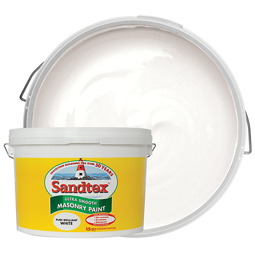 Sandtex Ultra Smooth Masonry Paint - Pure Brilliant