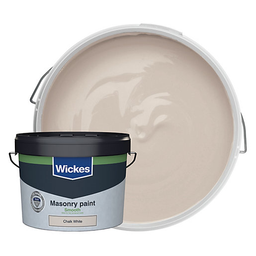Wickes Masonry Smooth Chalk White 10L