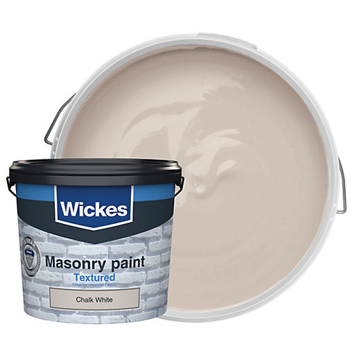 Wickes Masonry Textured Chalk White 5L