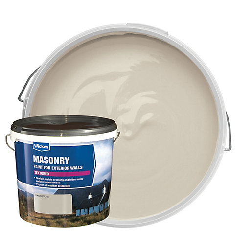 Wickes Textured Masonry Paint Sandstone 5l Wickes