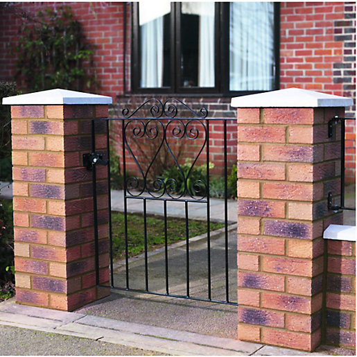 Wickes Chelsea Bow Top Steel Gate Black 838 X 900 Mm