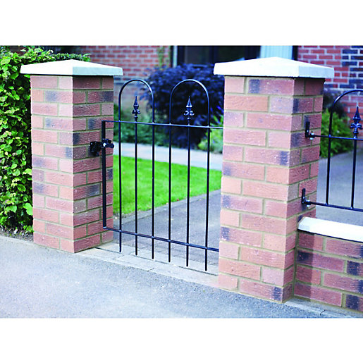 Wickes kensington steel gate black  mm