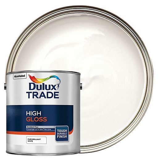 Dulux Trade High Gloss Paint Brilliant White L