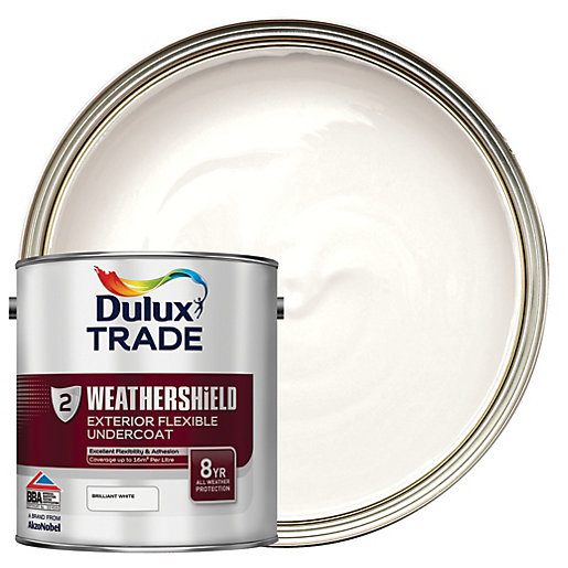 Dulux Trade Weathershield Exterior Flexible Undercoat Paint Brilliant White L