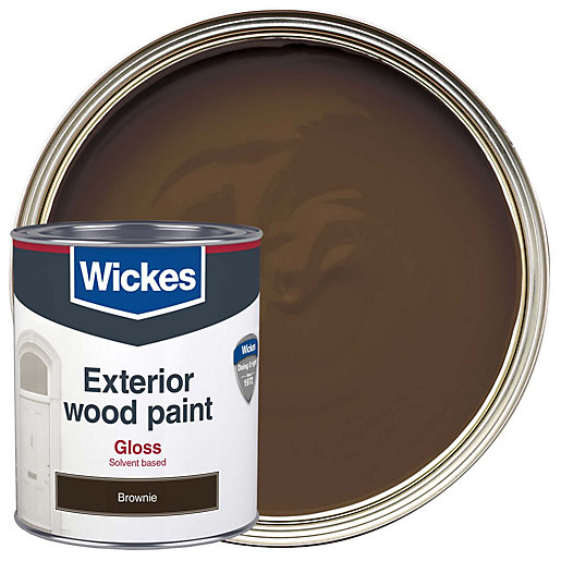 Wickes Exterior Gloss Paint - Brownie 750ml