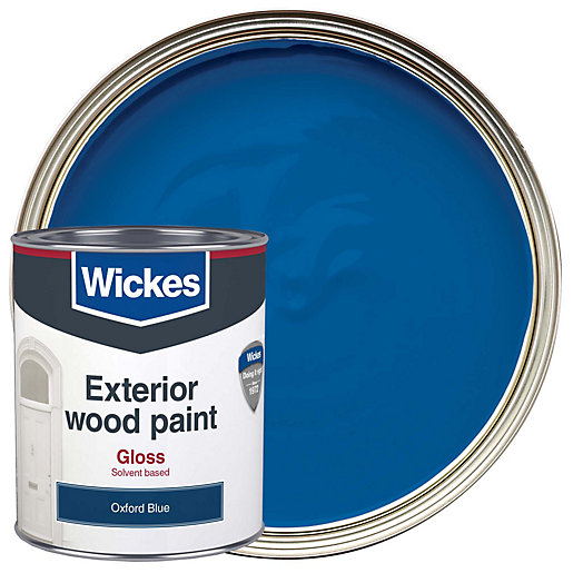 Wickes Exterior Gloss Paint Oxford Blue 750ml Wickes