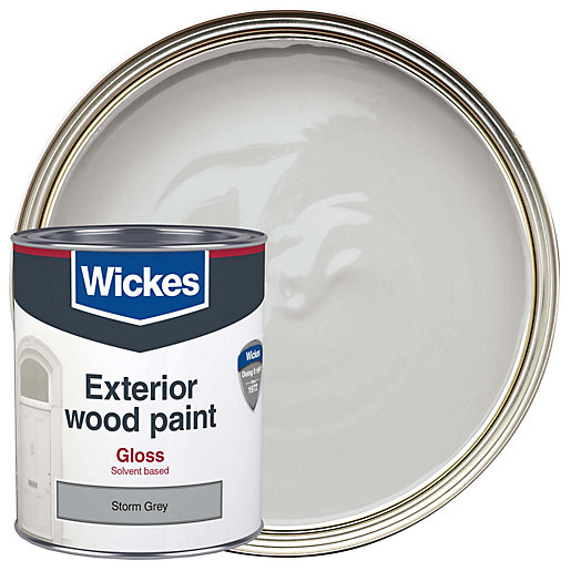 Wickes Exterior Gloss Paint Storm Grey 750ml Wickes