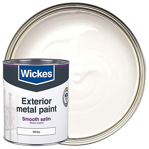 Wickes Metal Paint Smooth Finish Satin White 750ml