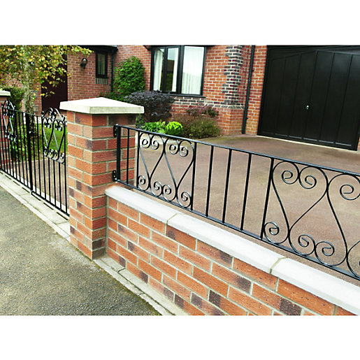 Wickes Chelsea Metal Wall Railing - 365 x 1830mm