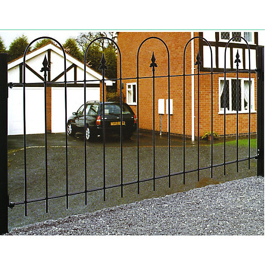 Wickes Kensington Metal Railing 914 X 1830mm Wickes Co Uk