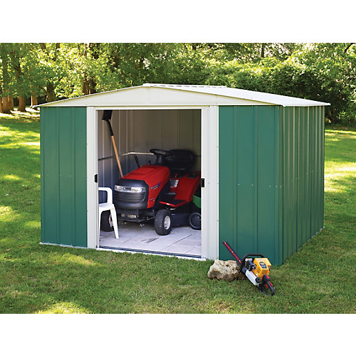 Rowlinson Large Metal Double Door Apex Shed Without Floor