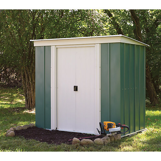 rowlinson metal pent shed without floor 6 x 4 ft