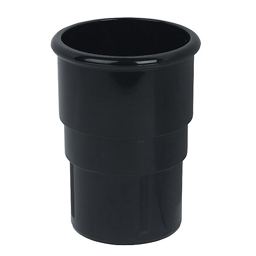 FloPlast 50mm MiniFlo Downpipe Pipe Socket - Black