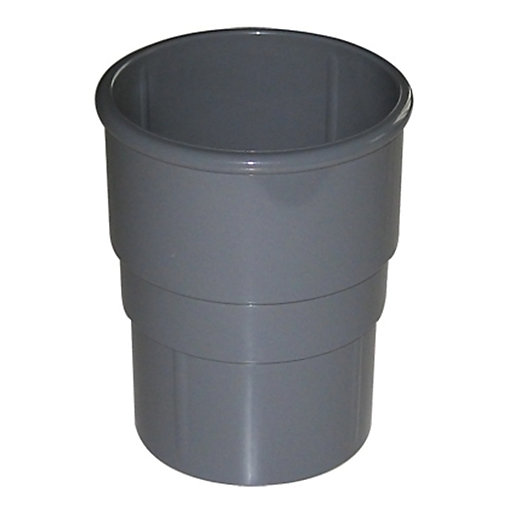 FloPlast 50mm MiniFlo Downpipe Pipe Socket - Grey