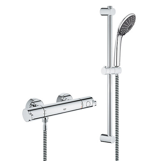 Grohe Wave Cosmo Thermostatic Mixer Shower - Chrome | Wickes.co.uk