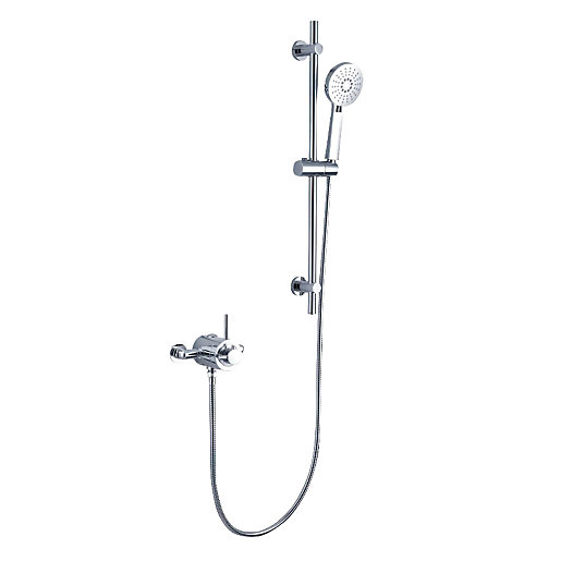 Wickes Style Thermostatic Mixer Shower Kit - Chrome | Wickes.co.uk