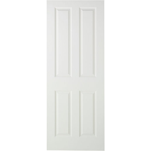 Mouse over image for a closer look.  sc 1 st  Wickes & Internal Moulded Door White Primed Smooth 4 Panel | Wickes.co.uk