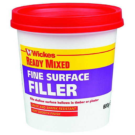Wickes Fine Surface Ready Mixed Filler - 600g