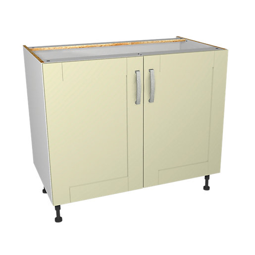 Wickes Ohio Cream Shaker Base Unit - 1000mm