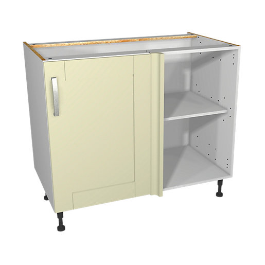 Wickes Ohio Cream Shaker Corner Base Unit -