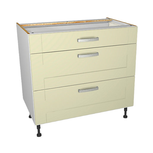 Wickes Ohio Cream Shaker Drawer Unit - 900mm