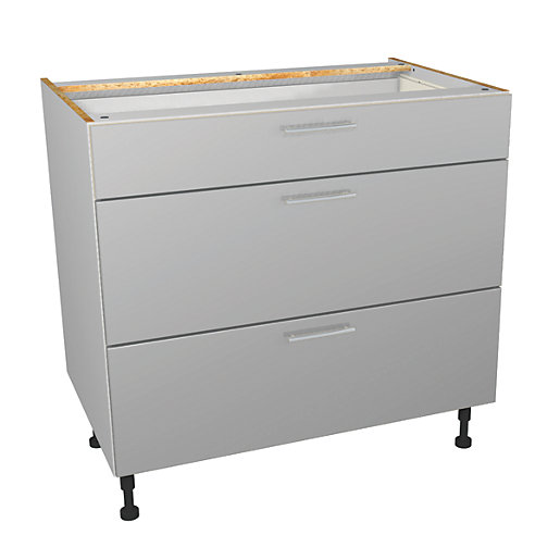 Wickes Orlando Grey Gloss Slab Drawer Unit -