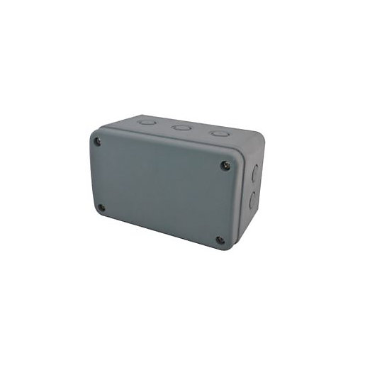Outdoor Security Lights Wickes: Masterplug Exterior Large Junction Box - Grey
