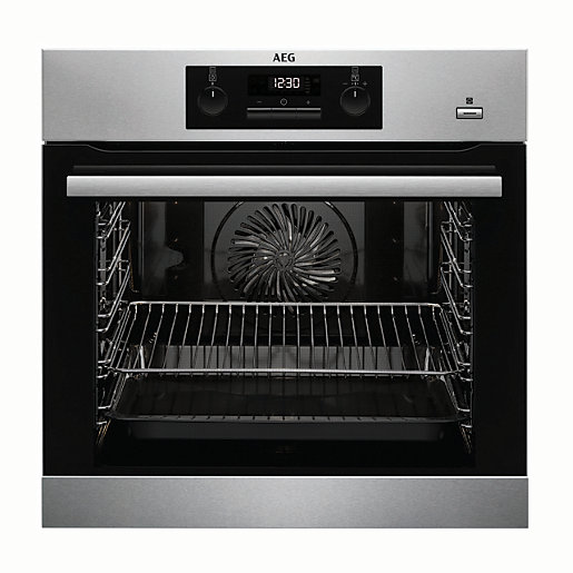 AEG Built-In Steam Bake Multifunction Single Pyrolytic Stainless