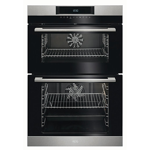 AEG SurroundCook Double Tower Stainless Steel Electric Oven