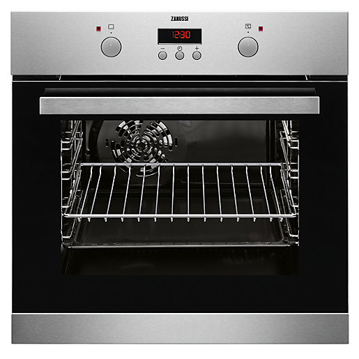 Zanussi Single Multifunction Stainless Steel Electric Fan Oven ...