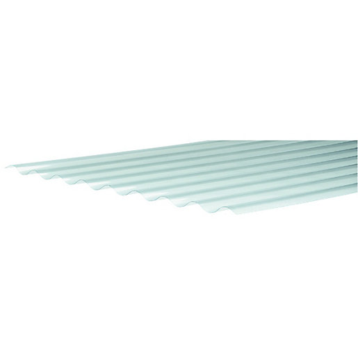 Wickes Pvcu Clear Corrugated Sheet 660 X 2400mm Wickes Co Uk