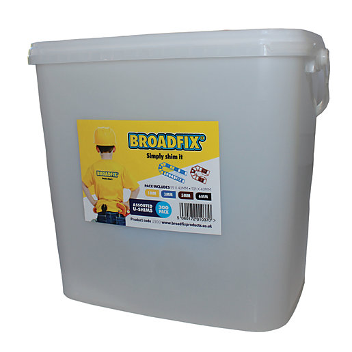 Broadfix U Shim 300 Piece Mixed Tub