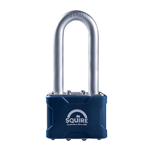 Squire Long Shackle Laminated Double 4 Pin Locking