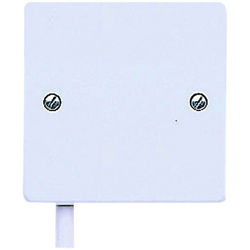 MK Flex Unfused Outlet Plate - 20A White