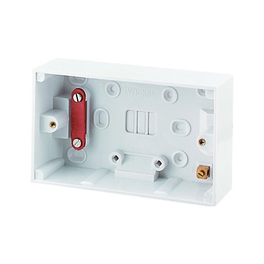 Wickes 2 Gang Pattress Box for Cooker Control
