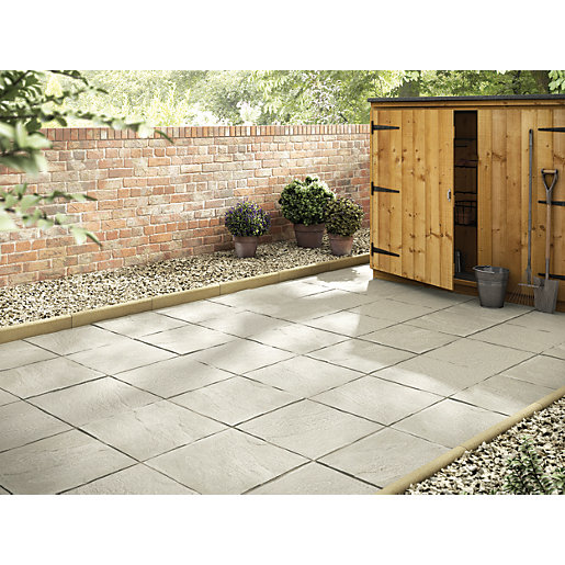 Patio Slabs And Designs: Marshalls Pendle Riven Grey 450 X 450 X 32mm Utility
