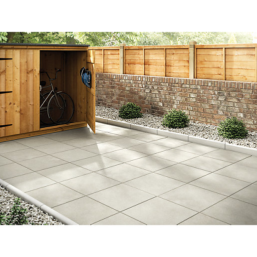 Patio Slabs And Designs: Marshalls Richmond Smooth Natural 450 X 450 X 32mm Paving