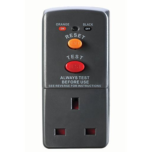 Masterplug Single Socket Safety RCD Plug & Adaptor