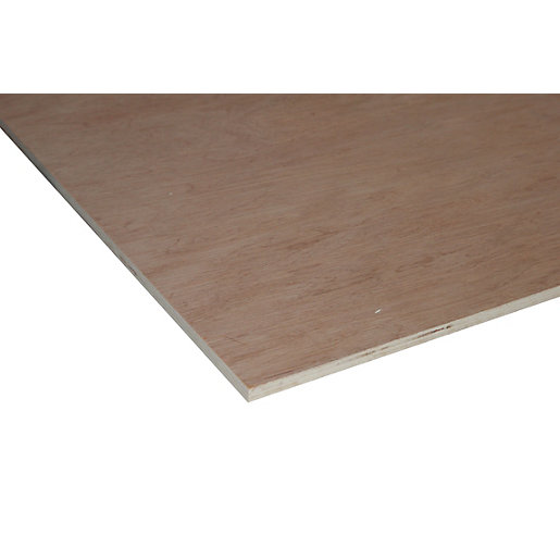 Wickes Non Structural Hardwood Plywood - 12mm x