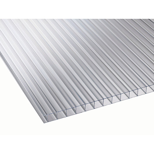 10mm Clear Multiwall Polycarbonate Sheet - 6000 x